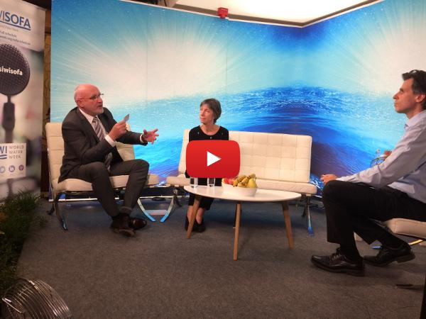 Thierry BARBOTTE, PDG du groupe ODIAL SOLUTIONS, et Martine VULLIERME, Directrice Adjointe de la Zone Afrique/Moyen-Orient au sein de VEOLIA