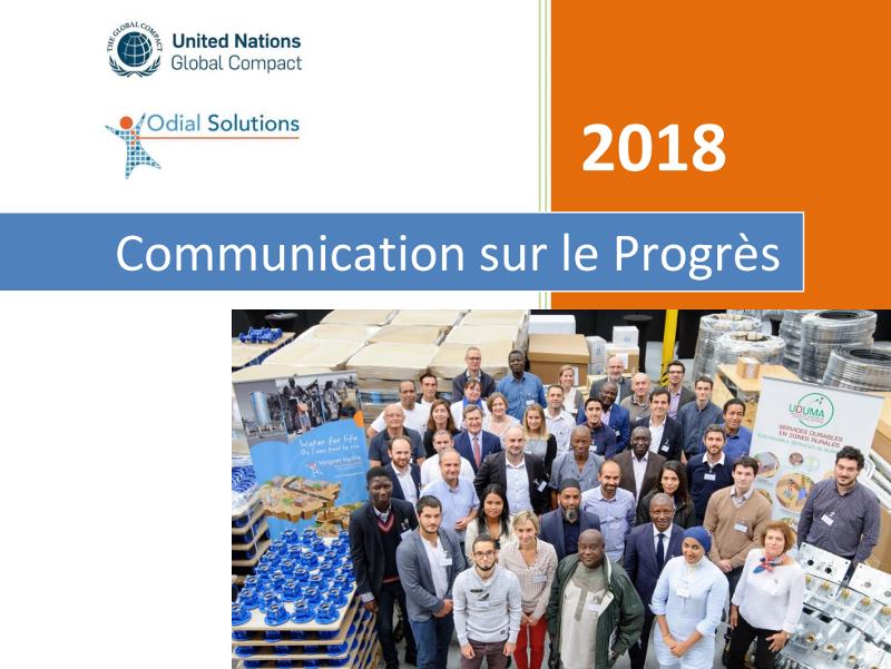 PACTE MONDIAL: ODIAL SOLUTIONSpublie son rapport de Communication sur le Progrès 2018