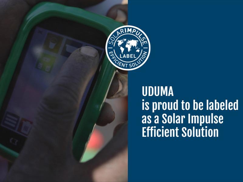 UDUMA obtient le label SOLAR IMPULSE